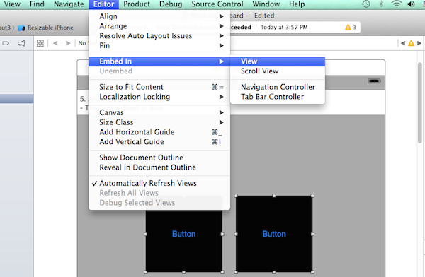 Group the objects inside a view on Xcode Storyboard