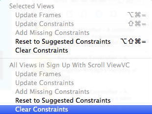 Clear Constraints for all the views